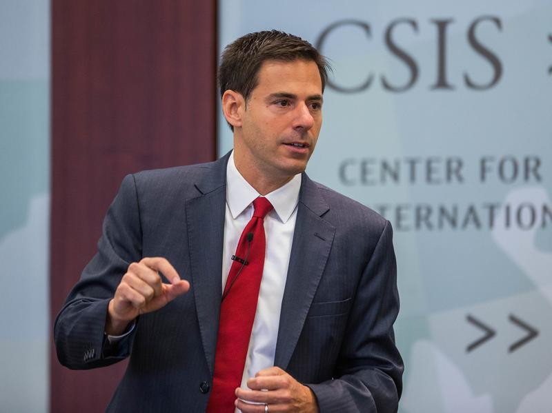 National Security Division Assistant Attorney General John Carlin speaks at a conference earlier this month.
