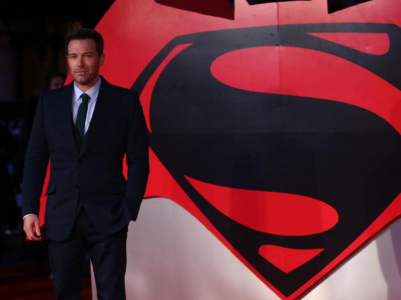 Ben Affleck at the European premiere of <em>Batman v Superman: Dawn of Justice</em>.