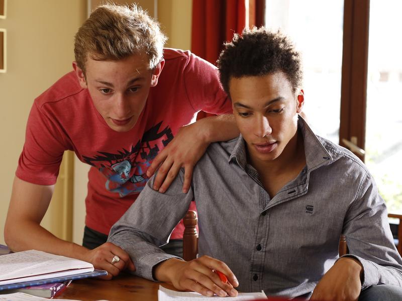 Kacey Mottet Klein (left) and Corentin Fila in <em>Being 17</em>, a film by André Téchiné.