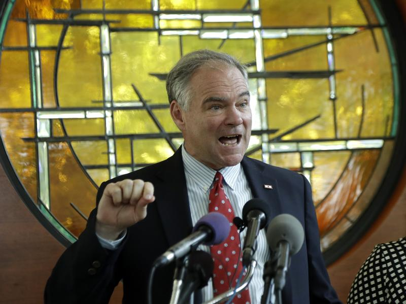 Sen. Tim Kaine has made his Catholicism a central part of his identity on the campaign trail.