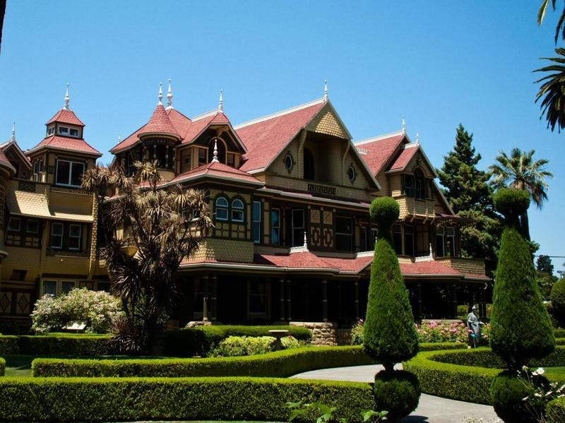 After losing her family, Sarah Winchester became convinced that ghosts were haunting her; so she built an enormous, maze-like mansion — now known as the Winchester Mystery House — to ward them off. (At least that's how the story goes.)