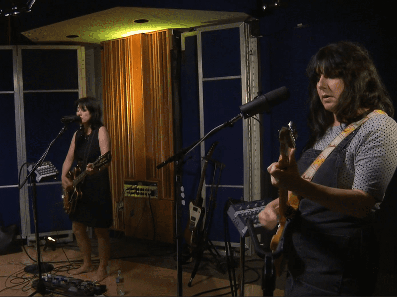 Lush, performing live in the studio for KCRW.