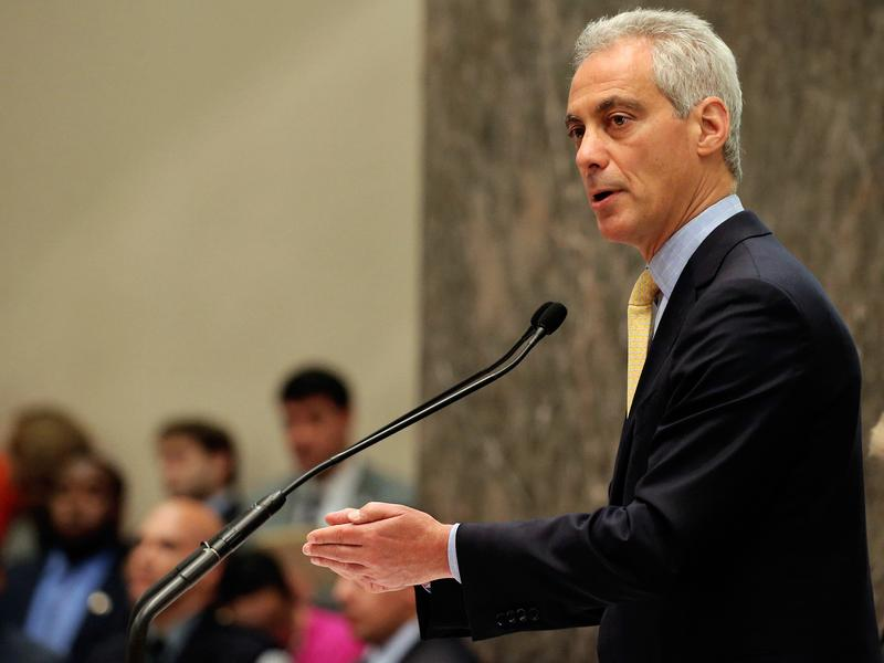 Mayor Rahm Emanuel presides over the Chicago City Council meeting on Wednesday. The plan to revamp the city's system of investigating police won approval Wednesday.