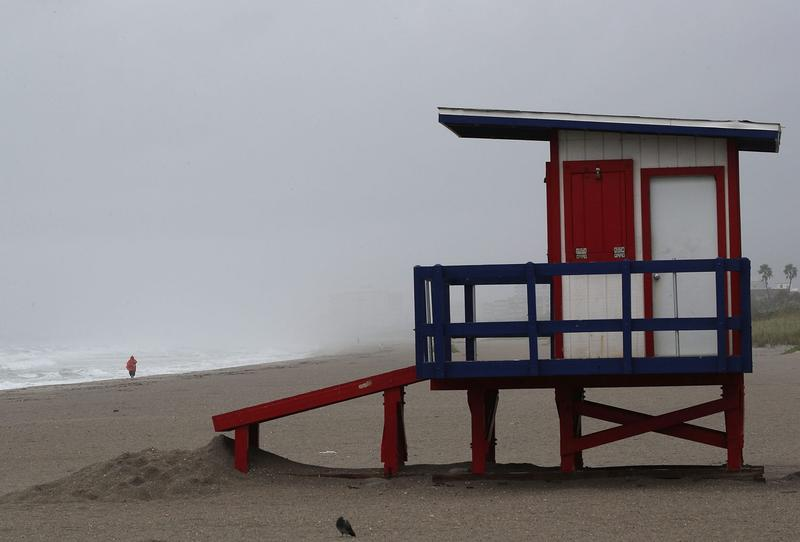 A lifeguard stand sits empty as Hurricane Matthew approaches, Oct. 6, 2016 on Cocoa Beach, Florida. Hurricane Matthew is expected to reach the area later this afternoon bringing heavy wind, and widespread flooding. (Mark Wilson/Getty Images)