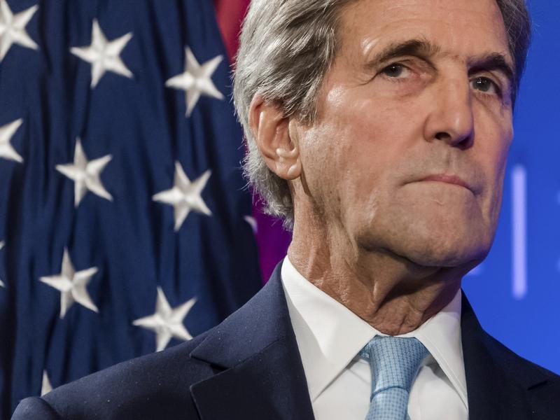 U.S. Secretary of State John Kerry speaking in Brussels earlier this week.