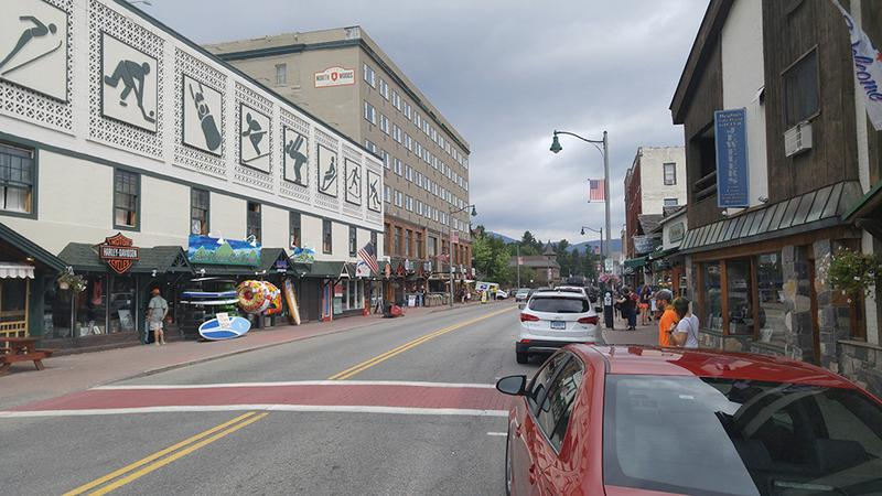 Lake Placid is one of America's most popular small town tourism destinations. Visitorship here is slightly more diverse than the rest of the North Country, but nearly 80 percent of the tourists are still white. (Brian Mann/NCPR)