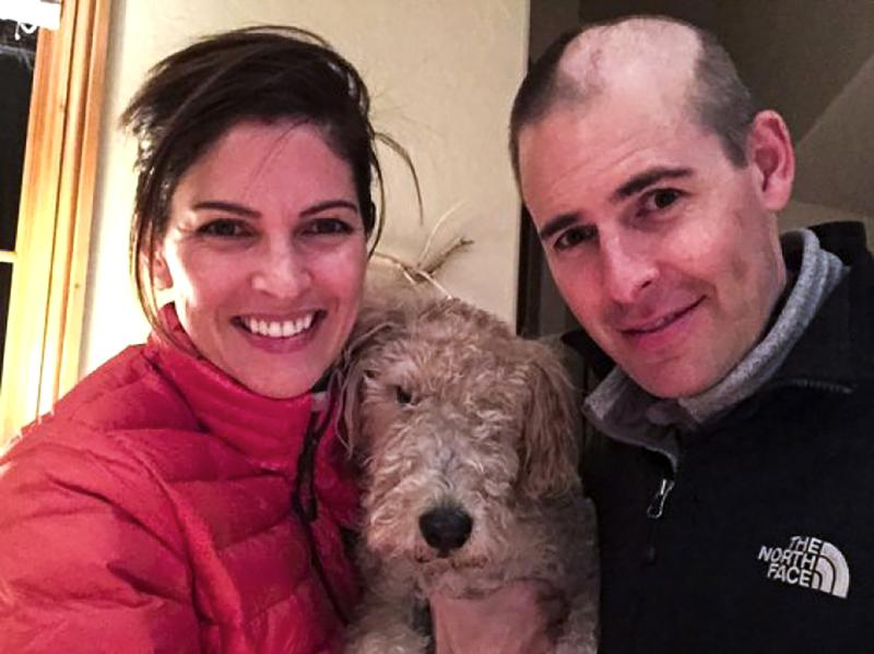 Matt Larson, shortly after his brain surgery, with his wife, Kelly. Larson says he would like the option to end his life rather than face a painful death.