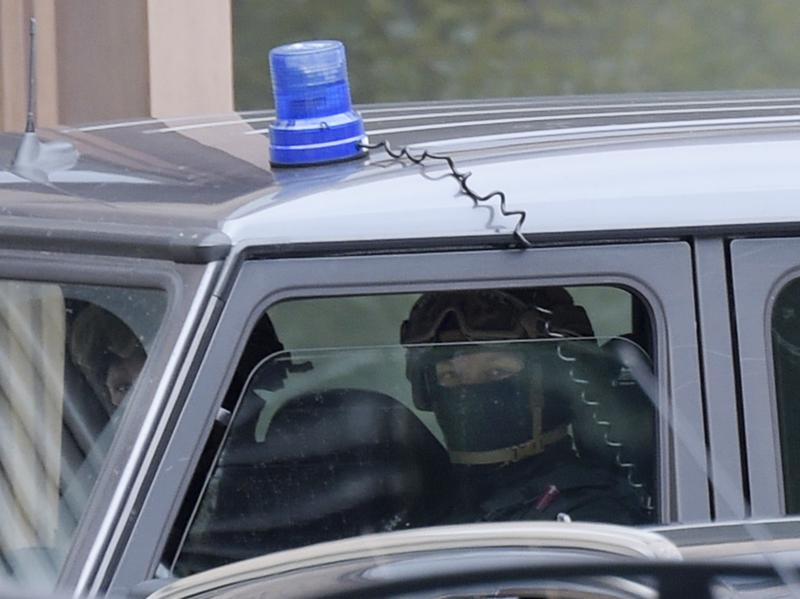 Special police forces secure the perimeter of the district court in Dresden, eastern Germany, on Monday, after 22-year-old Jaber al-Bakr was arrested.