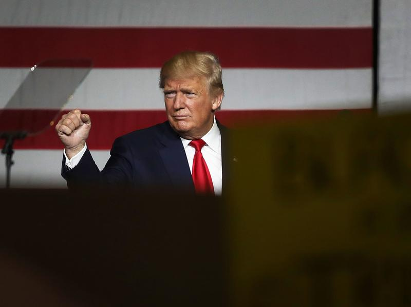 Republican presidential candidate Donald Trump campaigned at the South Florida Fair Expo Center in West Palm Beach on Thursday.