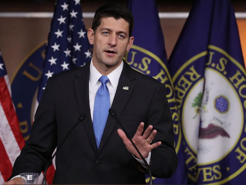 House Speaker Paul Ryan (R-WI), speaks to the media during his weekly media briefing on Capitol Hill on Sept. 29, 2016 in Washington. (Mark Wilson/Getty Images)