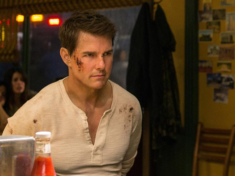 Left to right: Tom Cruise plays Jack Reacher, Judd Lormand plays Local Deputy and Jason Douglas plays Sheriff in <em>Jack Reacher: Never Go Back.</em>