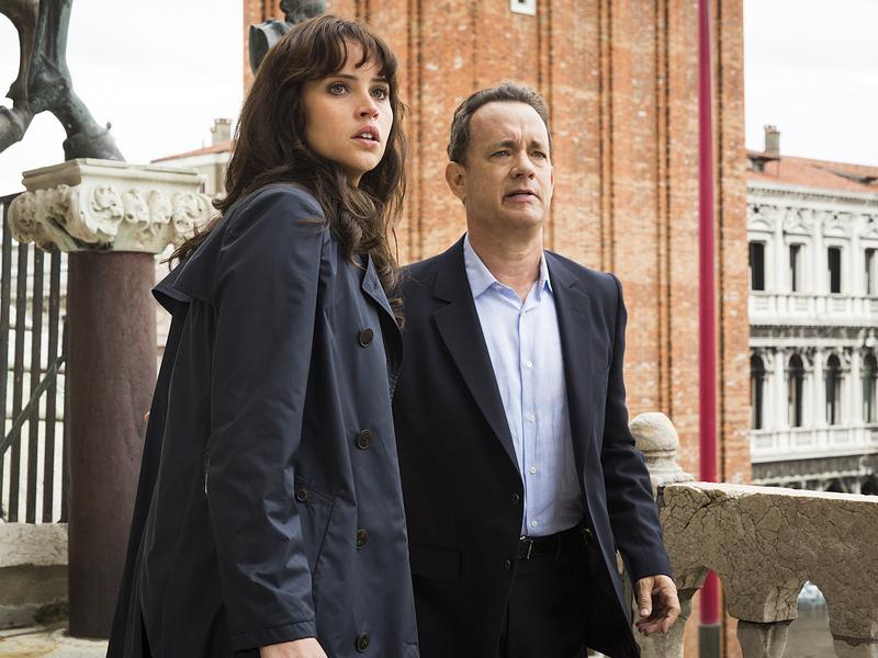 Tom Hanks and Felicity Jones star in <em>Inferno,</em> a film based on the book by Dan Brown, author of <em>The Da Vinci Code.</em>