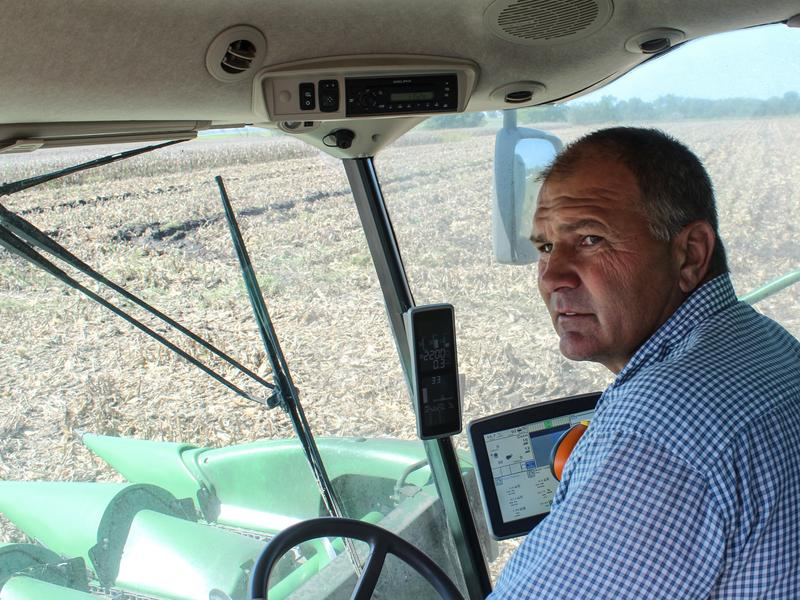 """Kansas Farmer Mark Nelson says he's too busy with harvest to think much about abstracts, but he admits that the prospect of depending on fewer and fewer, larger and larger companies for his seed, fertilizer and chemicals is """"a little nerve wracking."""""""