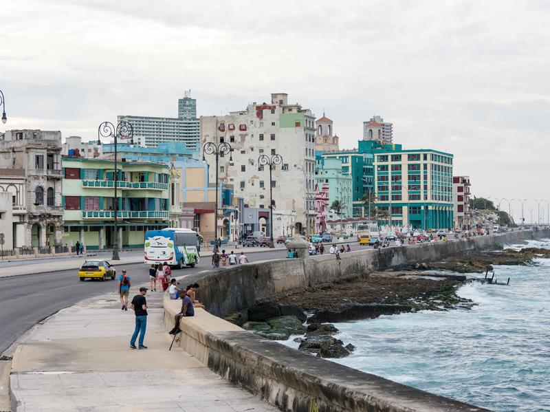 A view of the Caribbean is among the things attracting new buyers to high-priced Havana real estate along the city's famous seaside strip, the Malecón.