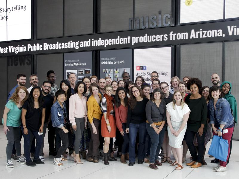 """On June 1-3, 2016, 12 public radio teams descended on NPR HQ for the inaugural NPR Audio Storytelling Workshop (<a href=""""https://twitter.com/search?src=typd&q=%23nprasw"""">#nprasw</a>). The teams took part in three days of brainstorming, training, planning and networking. At the end of the workshop, each team presented before an NPR audience."""