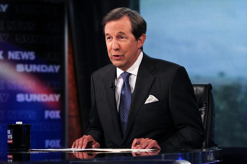"""Chris Wallace during an interview on """"FOX News Sunday"""" at the FOX News D.C. Bureau on July 27, 2012 in Washington. (Paul Morigi/Getty Images)"""