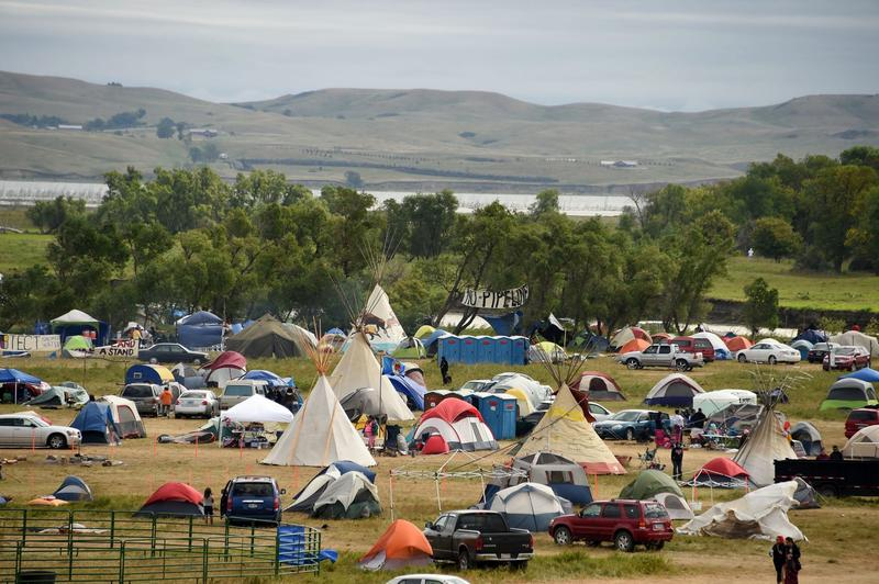 The Missouri River is seen beyond an encampment Sept. 4, 2016 near Cannon Ball, North Dakota where hundreds of people have gathered to join the Standing Rock Sioux Tribe's protest of the Dakota Access Pipeline (DAPL). (Robyn Beck/Getty Images)