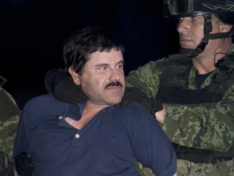 "Joaquin ""El Chapo"" Guzman — seen here in a photo taken during his recapture on Jan. 8, 2016, could be in the custody of U.S. officials by early 2017."