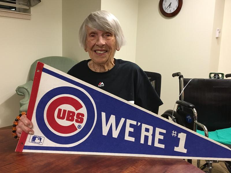Chicago Cubs superfan Virginia Wood is celebrating her 102nd birthday next month, and she's hoping her beloved team grants her a wish — a World Series title.