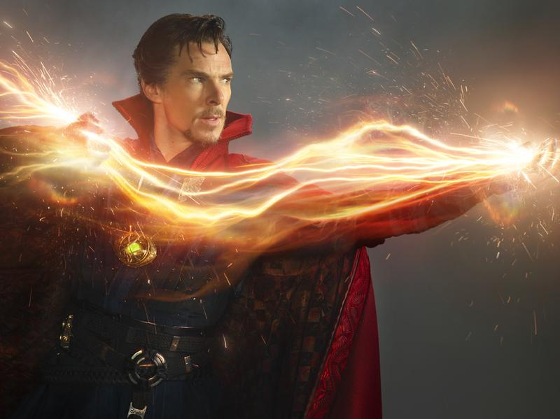 Passing <em>Strange</em>: Benedict Cumberbatch wields eldritch energies as Marvel's Sorcerer Supreme.