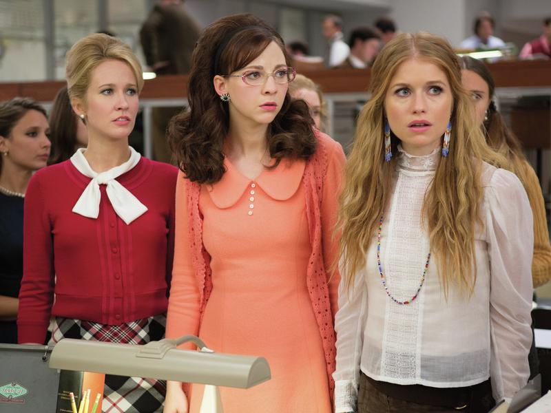 Anna Camp, Erin Darke and Genevieve Angelson star in <em>Good Girls Revolt</em>, which is based on a landmark gender bias case at <em>Newsweek.</em>