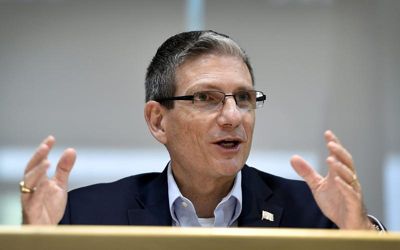 In this Thursday, June 2, 2016 file photo, U.S. Rep. Joe Heck, R-Nev., speaks during a roundtable event in Henderson, Nev. The contest to replace Nevada Sen. Harry Reid is the tightest Senate race in the country, and it's become a money magnet as allies and enemies seek to flip it. (David Becker/AP)