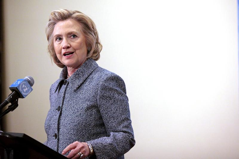 Democratic presidential nominee Hillary Clinton answered questions about allegations of an improperly used email account during her tenure as Secretary of State, after keynoting a Women's Empowerment Event at the United Nations on March 10, 2015 in New York. (Yana Paskova/Getty Images)