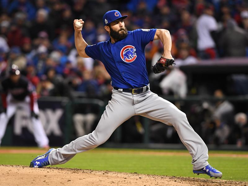 Chicago Cubs starting pitcher Jake Arrieta dominated the Cleveland Indians for much of Game 2 of the World Series in Cleveland Wednesday night.