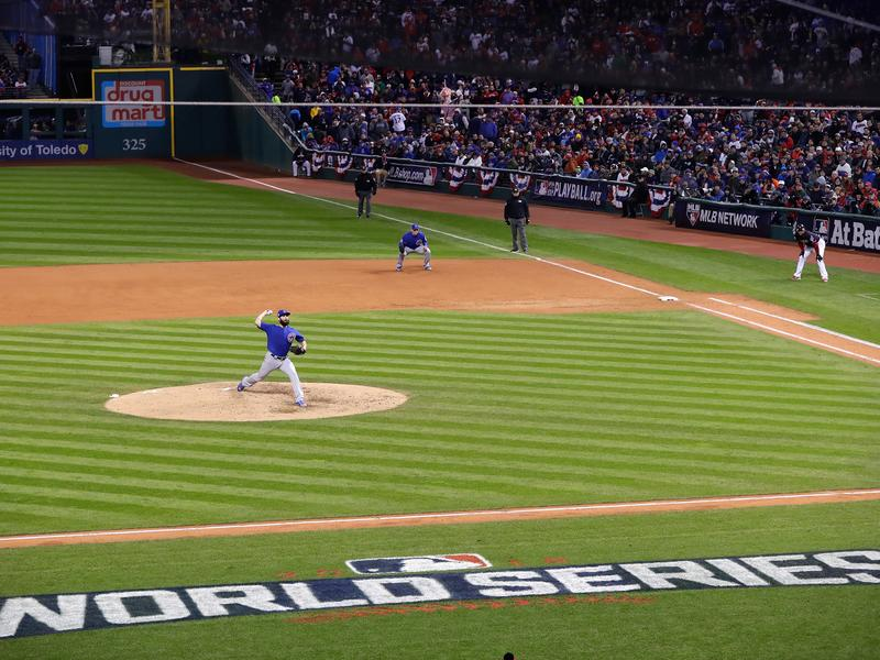 The fans packed the stands to see Game 2 of the World Series at Progressive Field in Cleveland Wednesday, after sluggish attendance during the Indians' regular season.
