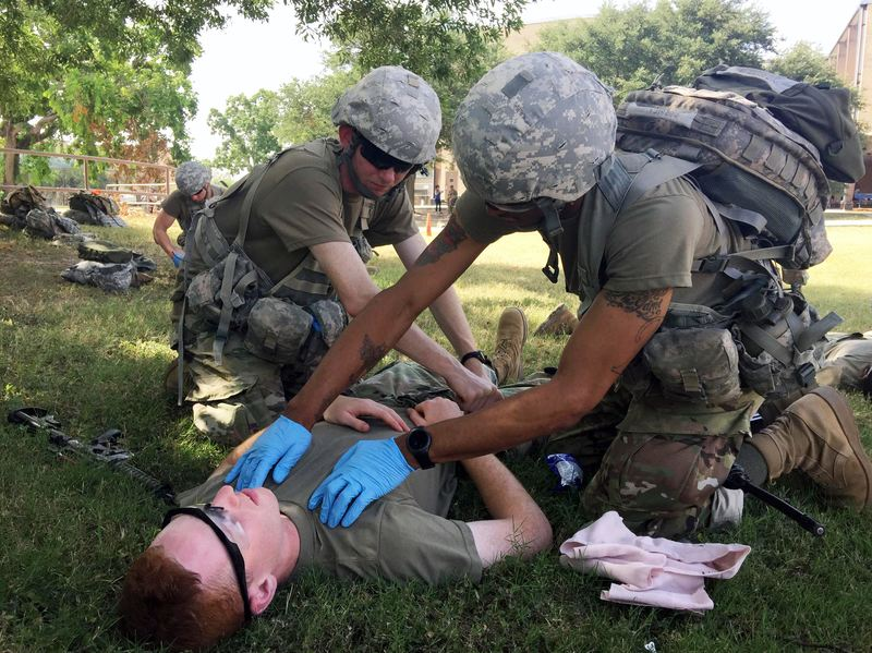 Military medics, medical corps and technicians from every branch of the military attend courses at the Medical Education and Training Campus in San Antonio.