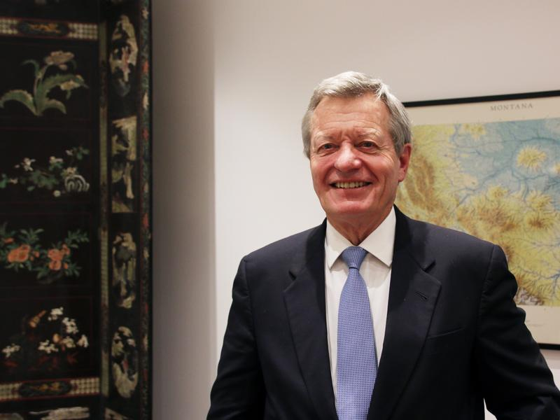 """U.S. Ambassador to China Max Baucus, a former Montana senator, recently became the first American envoy to China to visit all of the country's provinces. """"We Americans have an obligation to come to China, to learn more about China,"""" he tells NPR. """"Why? Because with each passing day, it's going to be more and more in our future."""""""