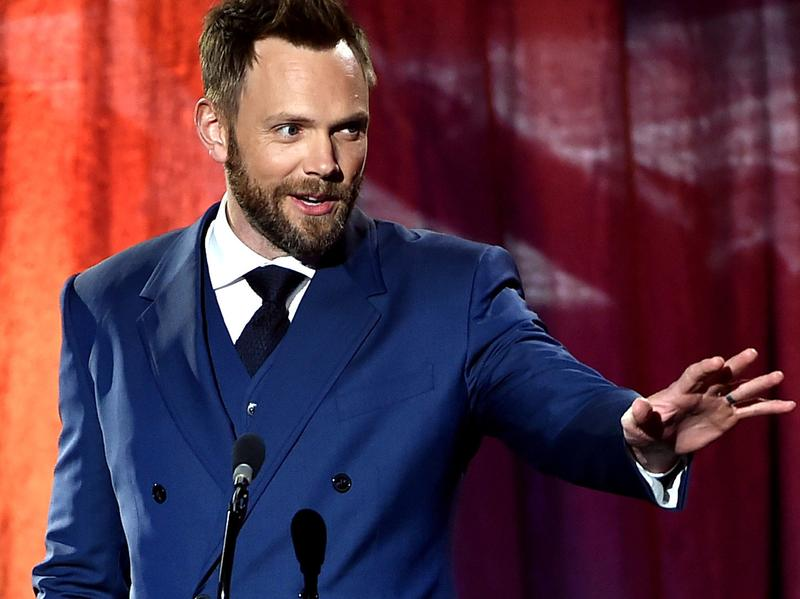 Actor/comic Joel McHale speaks at a Los Angeles event in 2015.