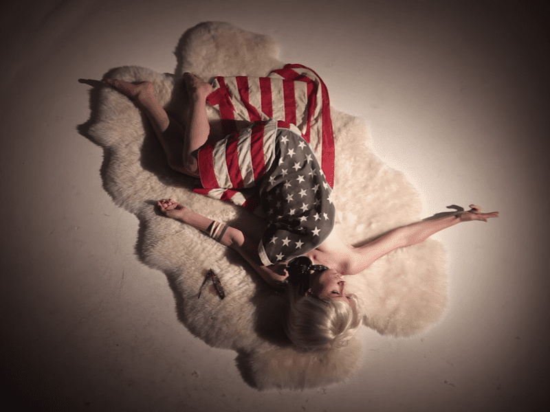 """A frame from Lera Lynn's """"Image"""" music video."""