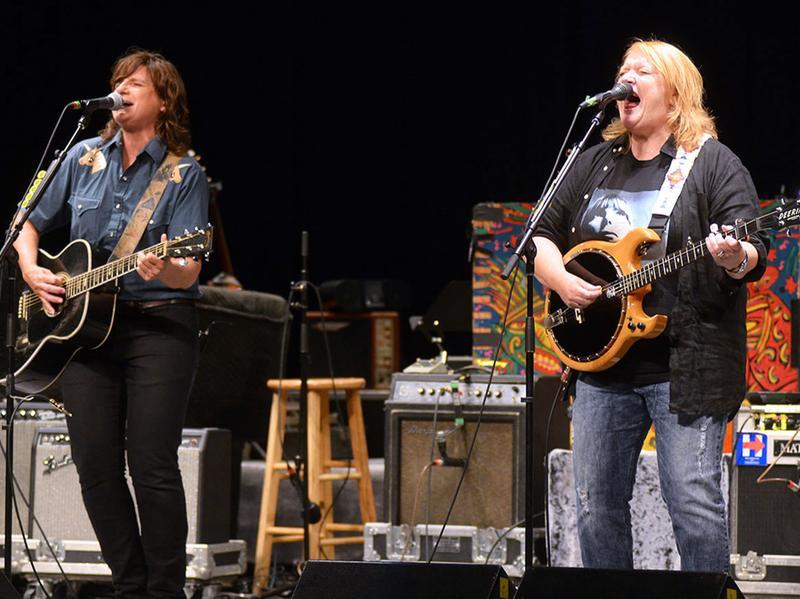 Indigo Girls, performing live onstage in Charleston, W.Va.