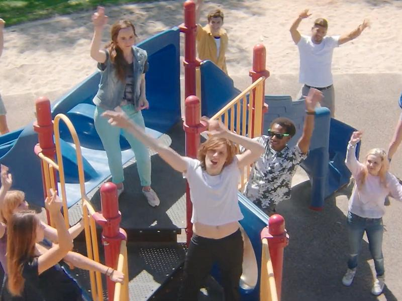 "Dancers in a scene from Foxygen's new video for the song ""Follow The Leader."""