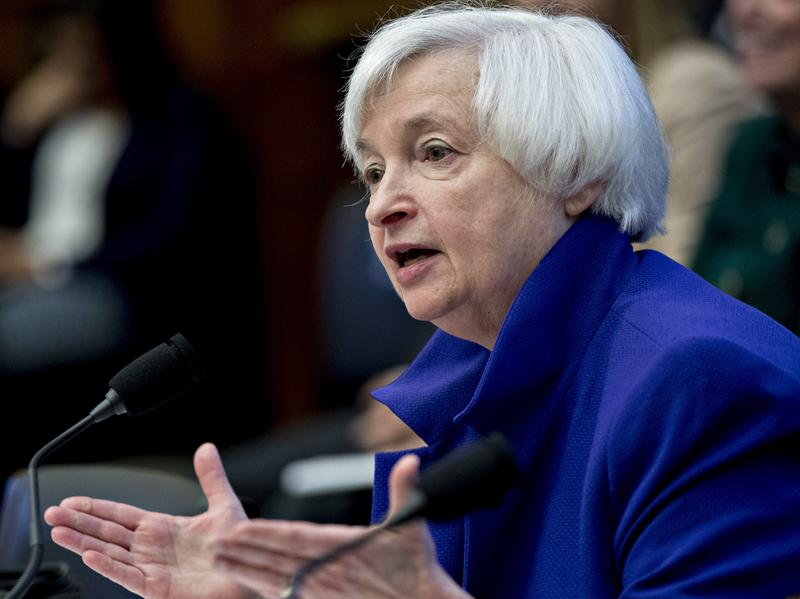 Federal Reserve Chair Janet Yellen speaks during a House Financial Services Committee hearing in Washington, D.C., on Sept. 28.