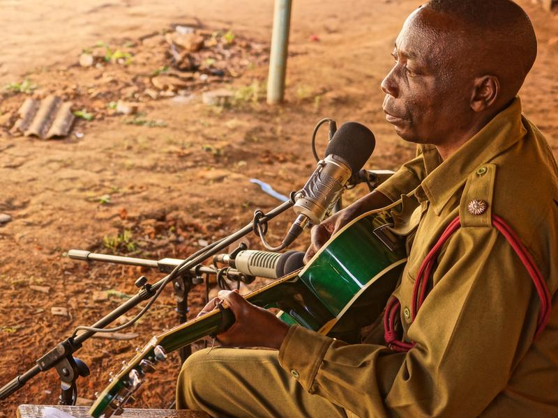 """Prisoner guard Thomas Binamo wrote a ballad after his wife died suddenly: """"I Will Never Stop Grieving For You, My Wife."""""""