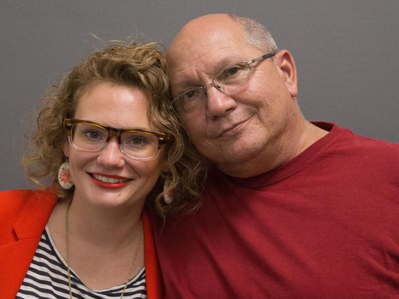 Jenn and Peter Stanley, on their visit with StoryCorps in Boston.