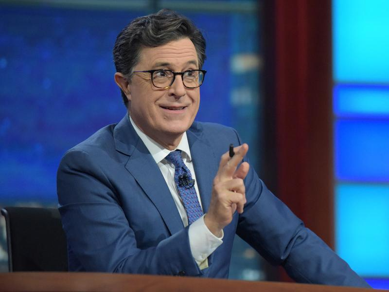 """For Stephen Colbert, taking over as host of <em>The Late Show</em> was not a hard decision. """"I love a live audience,"""" he says. """"I love the grind of every day and I love the people I work with."""""""