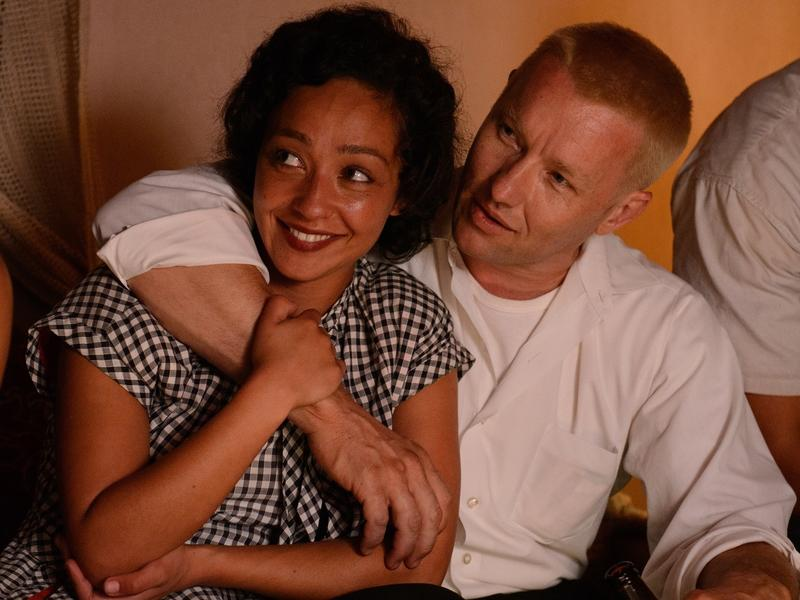 Ruth Negga and Joel Edgarton play married couple Mildred and Richard in the film <em>Loving</em>.