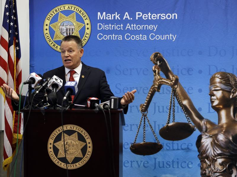 Contra Costa District Attorney Mark Peterson announced in Martinez, Calif., that he will charge a retired police captain with a misdemeanor prostitution count.