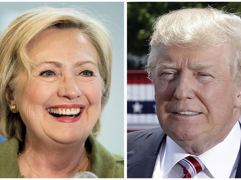 Clinton and Trump wrap up their presidential campaigns with two-minute ads appealing for votes the day before Americans head to the polls.