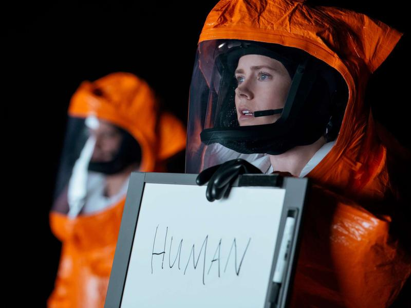 "Amy Adams stars as linguistics professor Louise Banks in the new movie <em>Arrival, </em>adapted from a Ted Chiang short story. The science fiction author spent five years studying linguistics before writing ""Story of Your Life."""