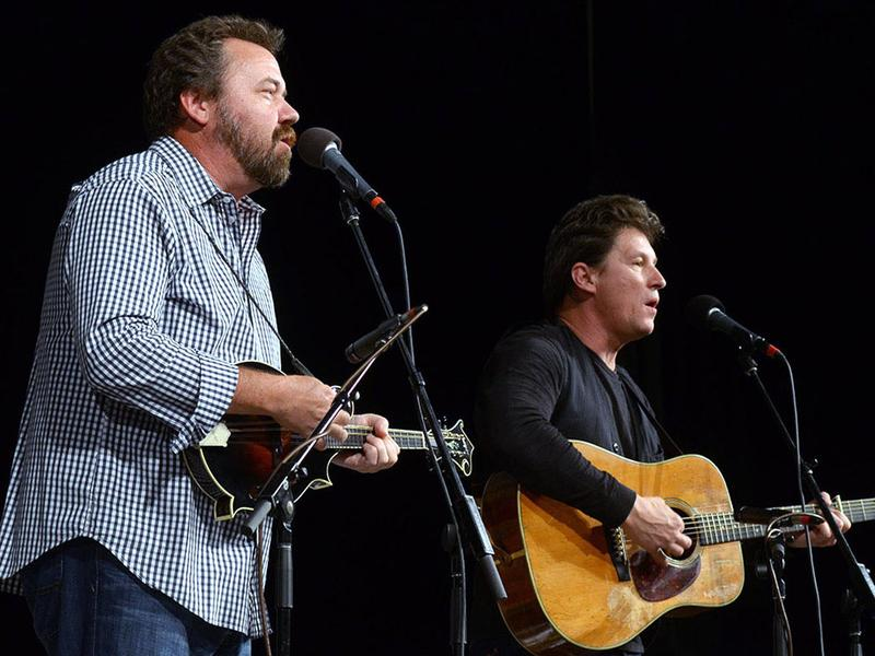 Dan Tyminski and Ronnie Bowman performing live for Mountain Stage in Elkins, W.Va.