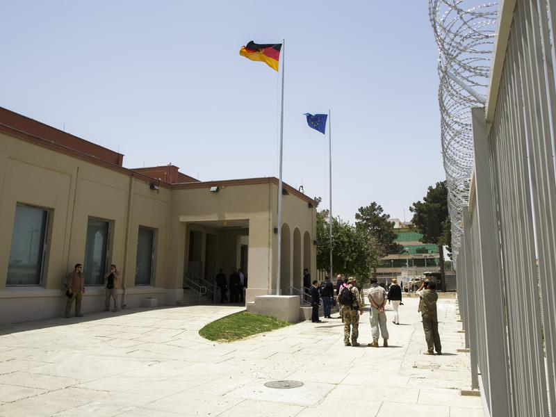 The German Consulate General building pictured in Mazar-i-Sharif, Afghanistan, shown before the attack.
