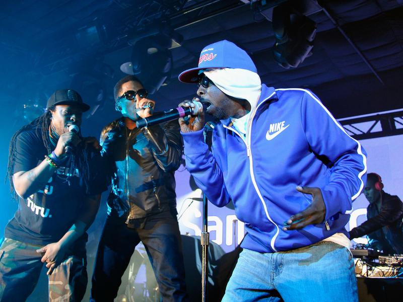 A Tribe Called quest performs at the 2013 SXSW music festival. Left to right: Jarobi White, Q-Tip, Phife Dawg and Ali Shaheed Muhammad.