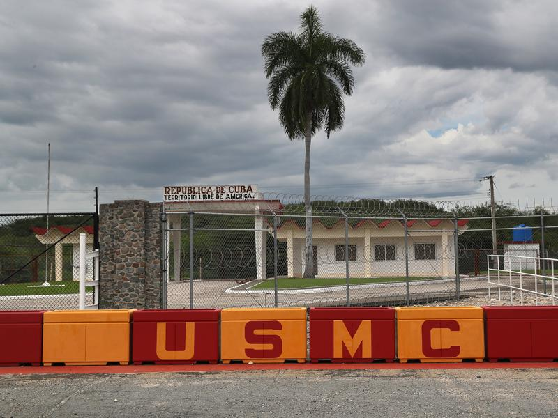 """The U.S. Naval Station at Guantanamo holds the U.S. prison known as """"Gitmo."""" President Obama said when he took office in 2009 that he wanted to close the prison, but 60 prisoners remain."""
