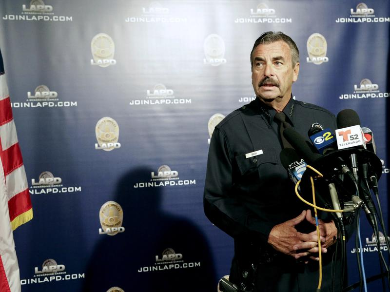 Los Angeles Police Chief Charlie Beck at a news conference in October.