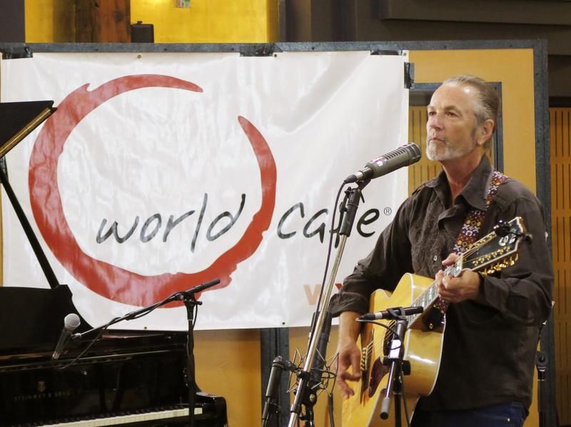 Steve Kilbey performs in front of a small audience in Studios 301 in Sydney, Australia.