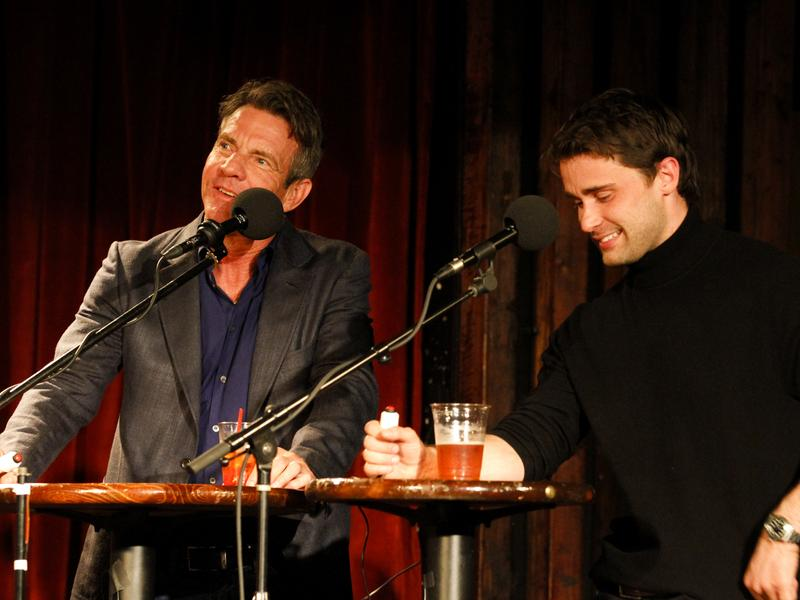 Dennis Quaid and Christian Cooke on Ask Me Another.